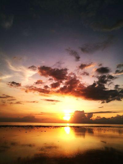 Gili trawangan island, indonesia Sunset Sun Tranquility Beauty In Nature First Eyeem Photo