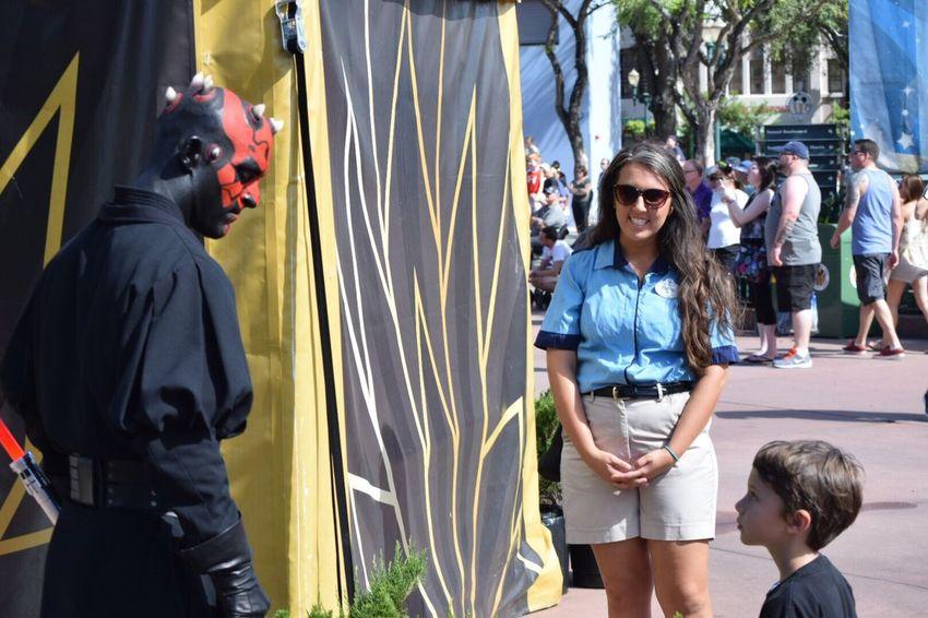 Starwars DarthMaul Florida Hollywood Studios Staredown Stare Kid Vs