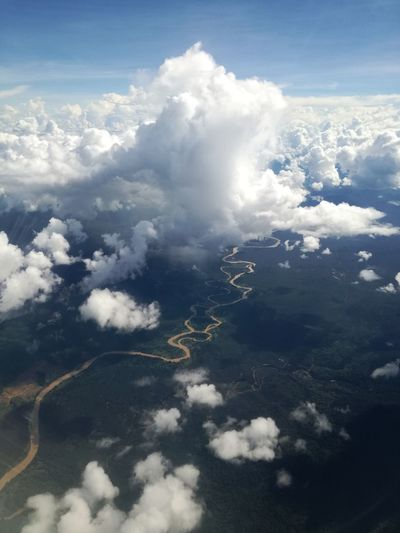 Before I landed in Sandakan☀ Aerial View Airplane Airplaneview Best Edits  Borneo Breathtaking Brunei Cloud - Sky Cloudscape Excellent Exceptional Photography Kinabatangan River Landscape_Collection Malaysia Nature No People Outdoors Riverscape Sabah Sungai The Purist (no Edit, No Filter) Transportation View From Above View From Plane