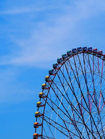 Ferris Wheel Blue Sky Skyblue Vehicle Building Only Simple Photography Refresh