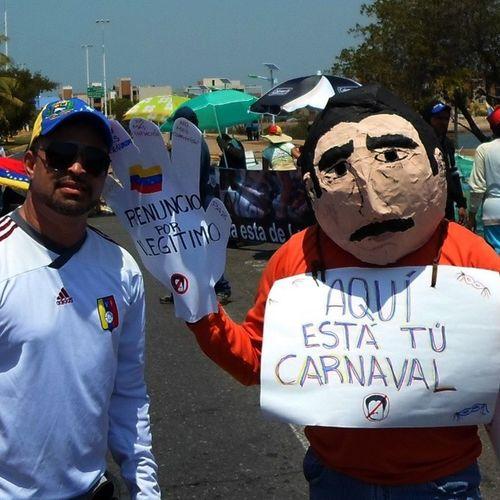 "Pto de Control Operativo Consciencia Civil ""No Carnaval 2014"" SinMiedo ResistenciaCivil AnzoteguiFirme Elquesecansapierde ArribaVenezuela"