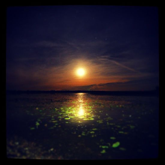 Rynningeviken Hj älmaren Kv äll M åne moon