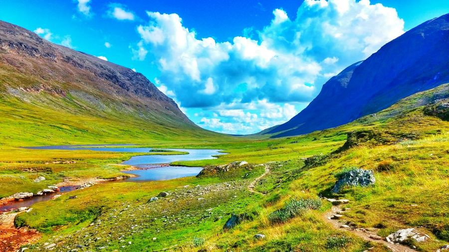 Mountain Mountains Green Nature Flood Water Things That Are Green Hiking Sky Blue