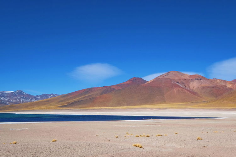 Lake Meniques Mountain Landscape Nature Scenics Sand Desert Arid Climate Outdoors Beauty In Nature Salt - Mineral Mountain Range Water Lake No People Day Clear Sky Empty Places at San Pedro De Atacama , Chile