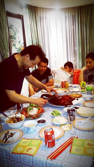 Mealtime Roasted Goose Beijing Goose Dinner Chinese Food Goldene Lilie