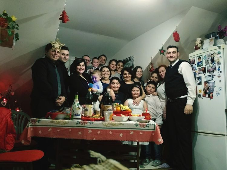 Christmas Portrait Familly Celebration Friendship People