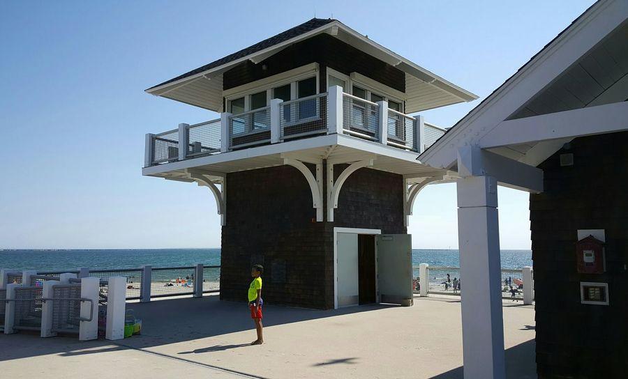 Lifeguard Station Narragansett, Rhode Island South County Beach Beach Photography S6 EyeEm Best Shots - People + Portrait EyeEm Standing Alone Rhode Island Photography⚓