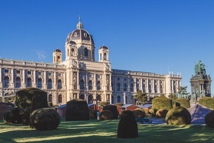 Low Angle View Of Kunsthistorisches Museum Against Clear Blue Sky