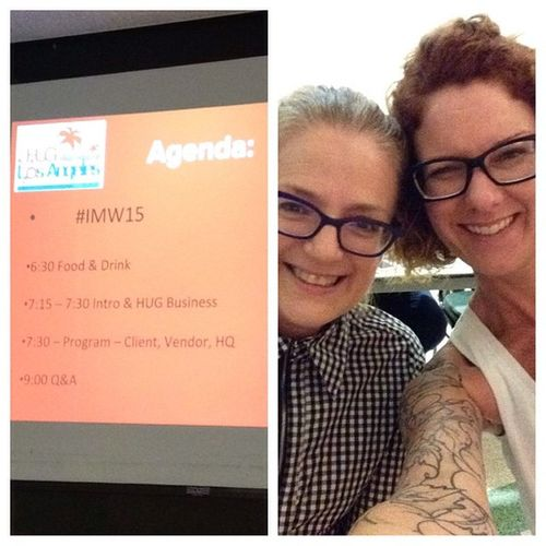 Julie and I are here to learn about InboundMarketing IMW15 Hubspot PatriciaLynnLaasHairCo patricialynnlaas Thank you for inviting us to learn more about our businesses picstitch