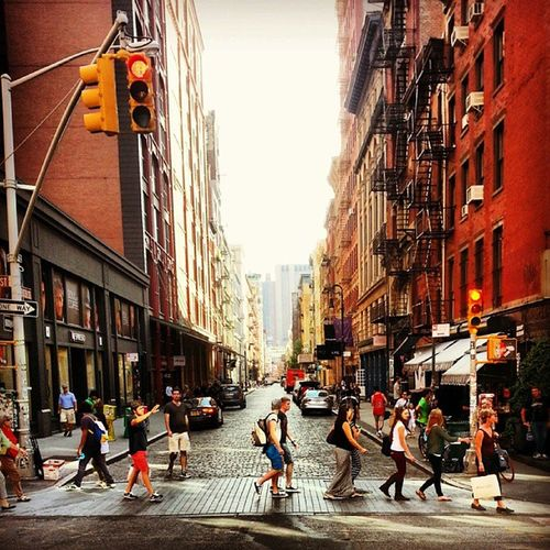 NYCrossings Mercer and Prince streets. NYC Newyorkcity Manhattan SoHo hefe lux