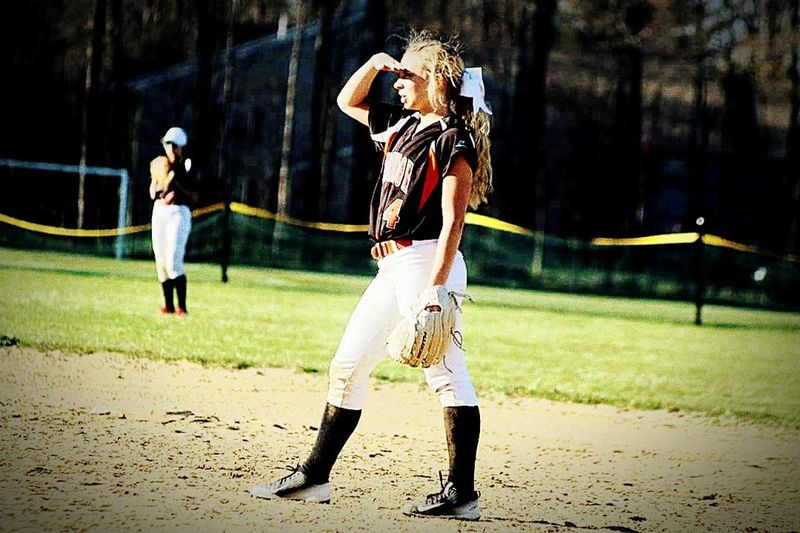 Young Women Young Adult Teamwork Sports Uniform Sport Playing Field Softball<3 Softball Is Life