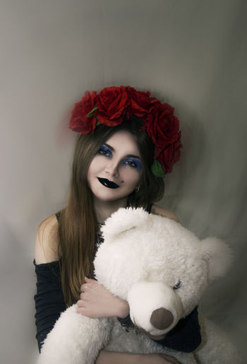 Art Artfoto Makeup Girl Gothic Women Girl, Roses Gotic