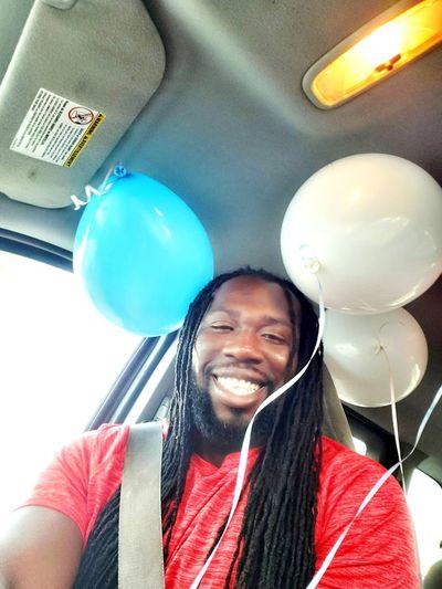 man smiling in