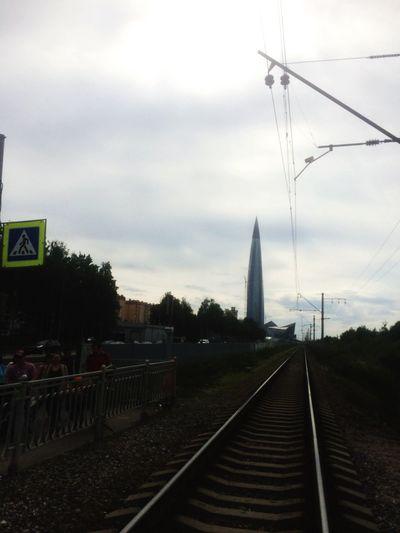 Transportation Sky Cloud - Sky Nature Rail Transportation Tree Built Structure
