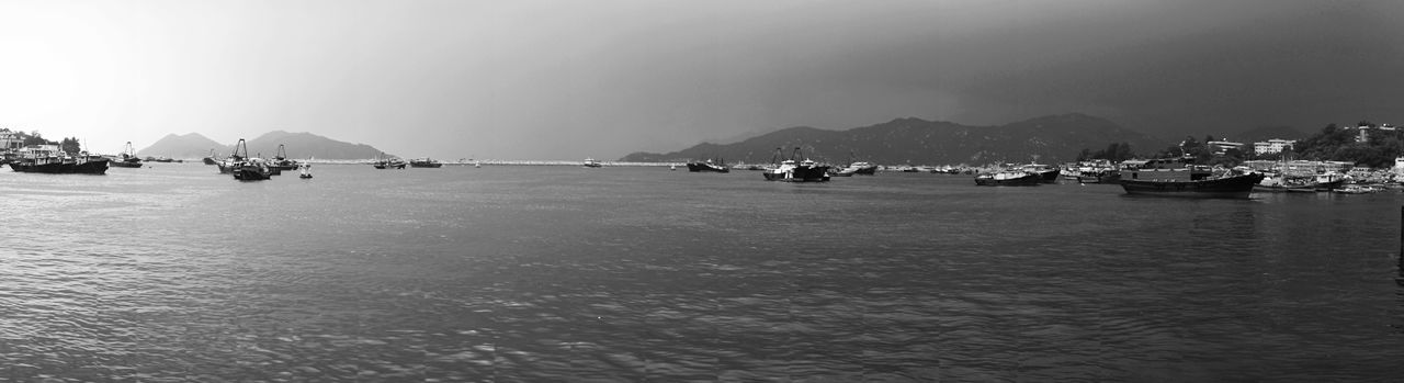 Water Nautical Vessel Transportation Mode Of Transport Sea Sky Nature Clear Sky Outdoors Waterfront Scenics Day Mountain Beauty In Nature City No People Cheung Chau HongKong
