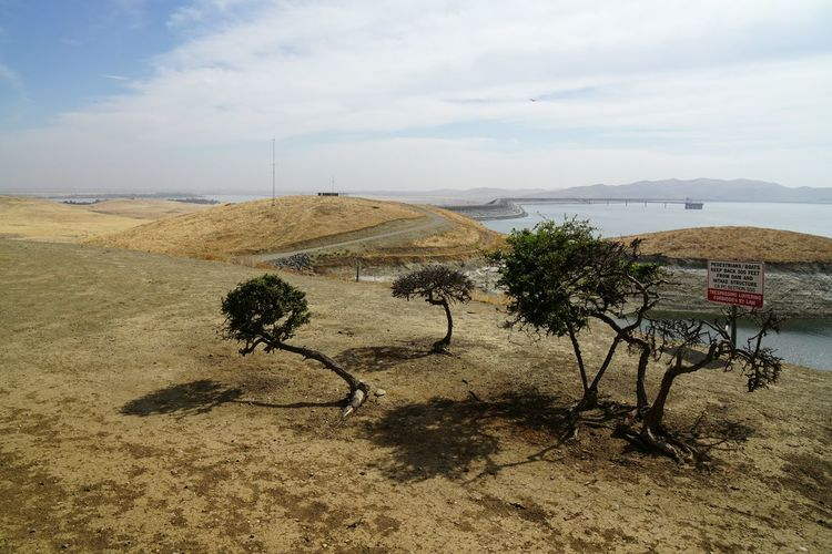 Zu Besuch in den Vereinigten Staaten von Amerika - Visiting the United States of America USA United States Vacations Urlaub Lake San Luis Reservoir Sand Sky Outdoors Day Cloud - Sky Beauty In Nature Sand Dune