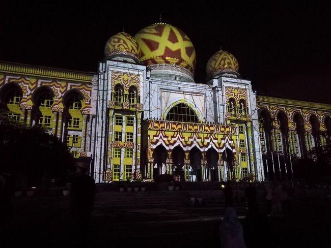 Night History City Arch Outdoors Malaysia Architecture Tourism Putrajaya,malaysia lampu2016