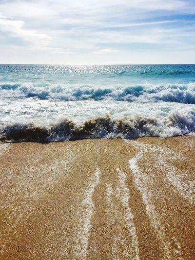 Waves sweeping