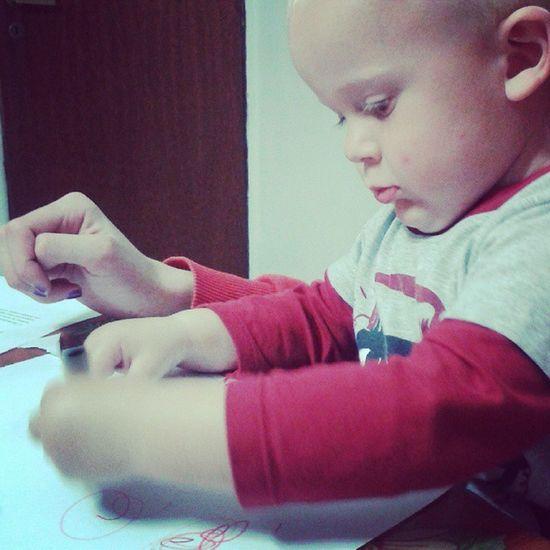 Pintando con un lindo Elian
