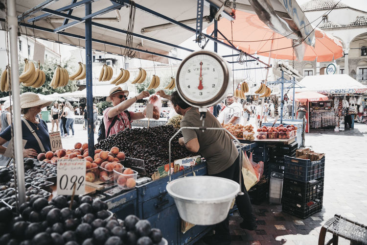 Abundance Business Choice Container Food Food And Drink For Sale Freshness Healthy Eating Incidental People Indoors  Large Group Of Objects Market Market Stall Occupation Real People Retail  Retail Display Sale Small Business Street Market Variation