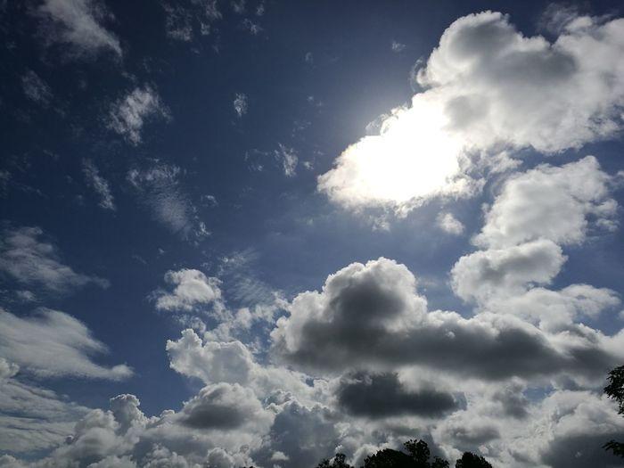 Sky Beauty In Nature Cloud - Sky Outdoors Sun Blue Bright Cloudscape