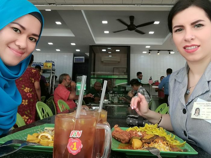 Food And Drink Indoors  People Food Adult Young Adult Young Women Friendship Healthy Eating Day Freshness Ali Corner Shah Alam, Selangor