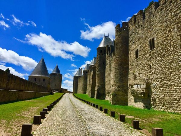 Carcassonne Architecture Sky Built Structure Day History Cloud - Sky Building Exterior No People Castle Outdoors The Way Forward Blue