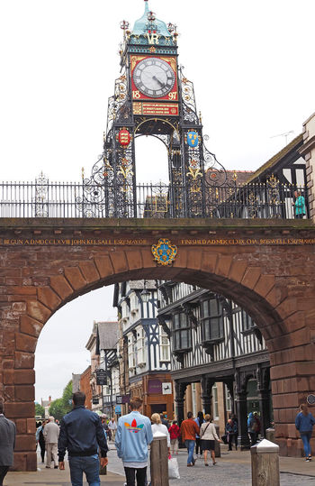 City of Chester Architecture People Real People Men City Sky Women Travel Tourism Day History Outdoors Vacations Arch Adult Lifestyles Travel Destinations Low Angle View Eastgate Street Large Group Of People Leisure Activity Building Exterior Built Structure Bridge - Man Made Structure A Taste Of Chester, UK The Chester Clock Tower The Street Photographer - 2018 EyeEm Awards