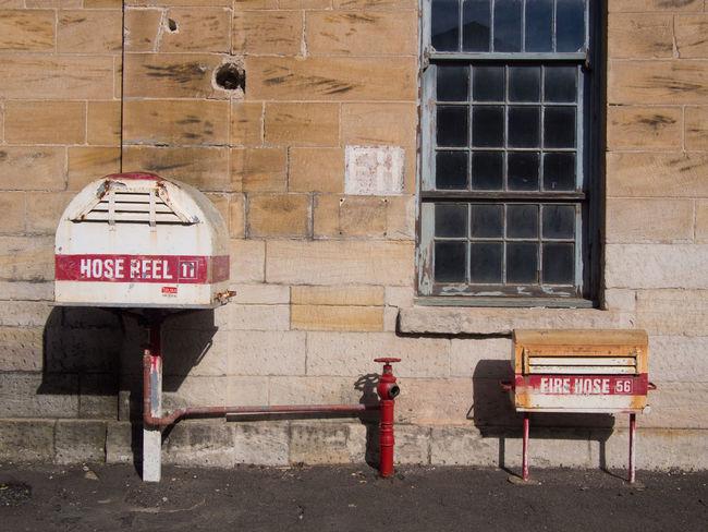 Hose Reel and Fire Hose Emergency Fire Fire Hose Hose Hose Reel On A Wall