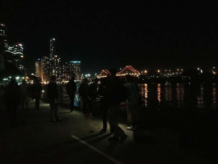 Brisbane you are fun to explore at night! Feel The Journey People Watching Night Time In The City Cities At Night Night Lights VSCO Vscoaustralia Reflections Showcase June People And Places