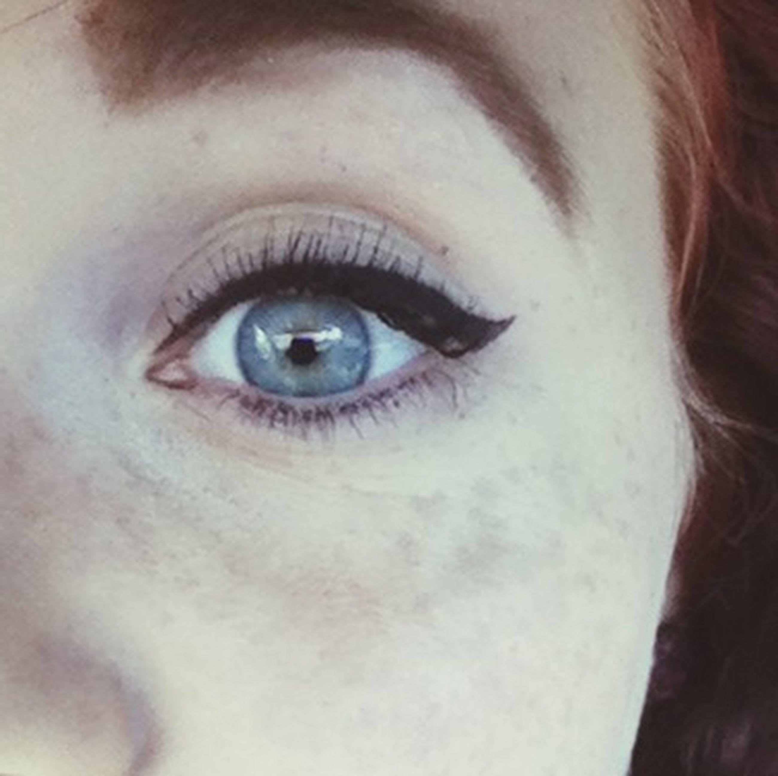 close-up, human eye, eyesight, sensory perception, part of, eyelash, indoors, extreme close-up, human skin, high angle view, one animal, iris - eye, detail, extreme close up, portrait, animal body part, cropped