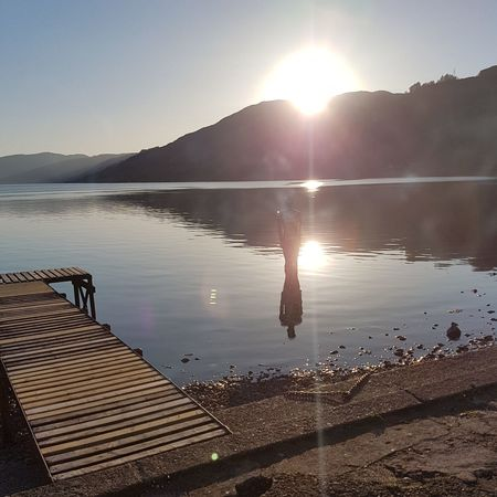 Reflection Loch  Water Sky Beauty In Nature Sunlight Outdoors Clear Sky Day Scenics Nature Scotland 💕 S7 Photography Tranquility Loch Earn