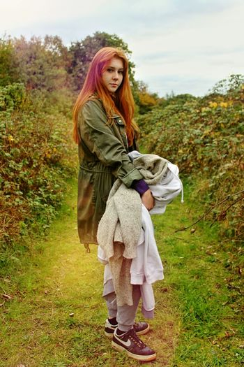 Ciara my Ginger model Portait Photography Portrait Ginger Girl Women Beauty Colourful Outdoors Young Adult Grass Nature