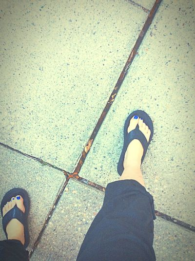 XMarksTheSpot Cement Flipflops Capripants Feet Feetselfie Blue Bluenailpolish Taking Photos Relaxing Enjoying Life Silly #funny #loveable #me Essentialtremorsawareness LongIslandNY Nikki Nicole ❤ When Boredom Strikes.