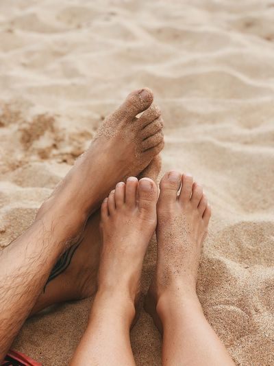 Feet on sand EyeEm Selects Beach Human Body Part Sand Body Part Human Leg Land barefoot Real People Human Foot Lifestyles Trip Relaxation