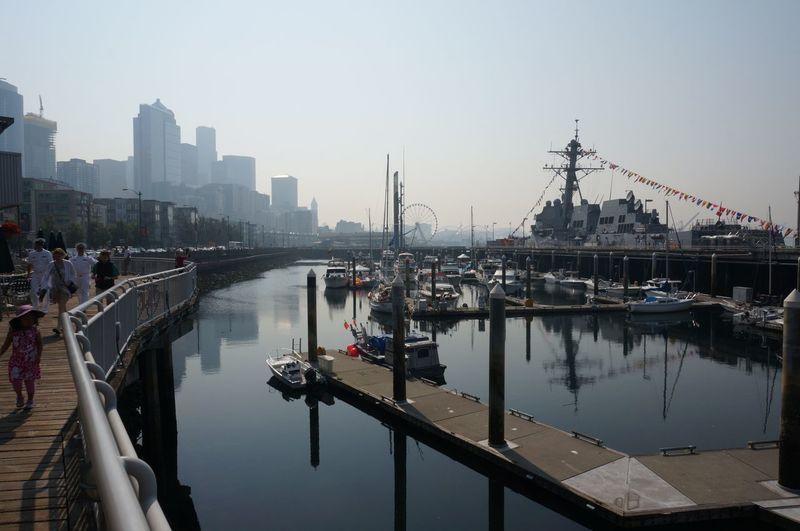 Seattle - WA Seattle Washington State Seattle, Washington Pier Waterfront Water Shore View Sunny