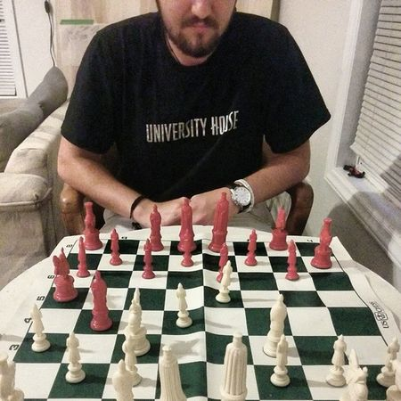 Chess with the Vintage 1940s set.. Mind  steez