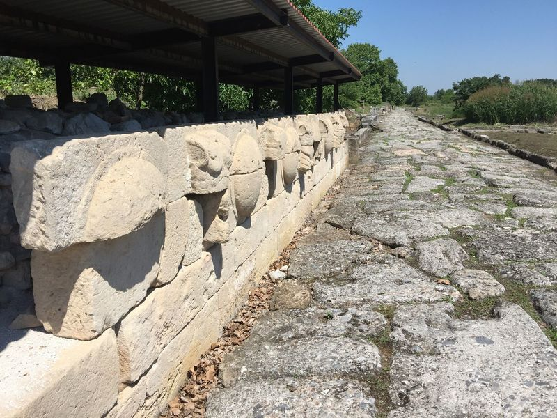 Roman road in Macedonia. (2) Greece Photos Dion Outdoors Open Museum History Ancient Civilization Historic Park Old Ruin Ancient Architecture