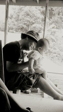 The Moment - 2015 EyeEm Awards My father and my nephew at our village home. Heart warming moment with his grandson. Borneo Bidayuh Baby Nephew  Sarawak Malaysia