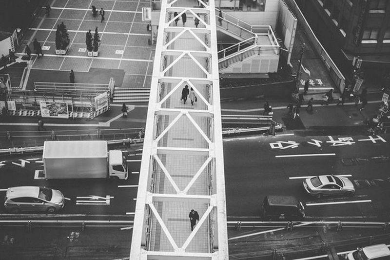 Showcase: January Blackandwhite Bnw_life Bnw Blackandwhite Photography Streetphotography Bnw_captures Tokyo Japan Shinjuku Overhead Bridge How Do We Build The World?