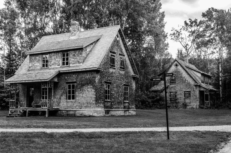 Village historique abandonné / Historic abandoned village - Québec Streetphoto_bw Wood Village Black And White Oldhouse Old Town Nikon History Abandoned Places Abandoned Blackandwhite Historical Building EyeEmNewHere Architecture Building Exterior Built Structure Tree Building Plant House No People Old EyeEmNewHere