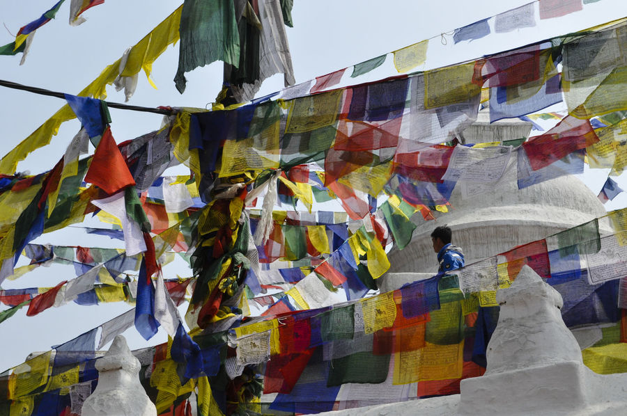 Beautifully Organized Boudhanath Bright Colors Buddhism Colorful Colors Day Flag Hanging Harmony Multi Colored Nepal People Prayer Flags  Prayers Tibetan Buddhism Tibetan Prayer Flags Travel Destinations Variation