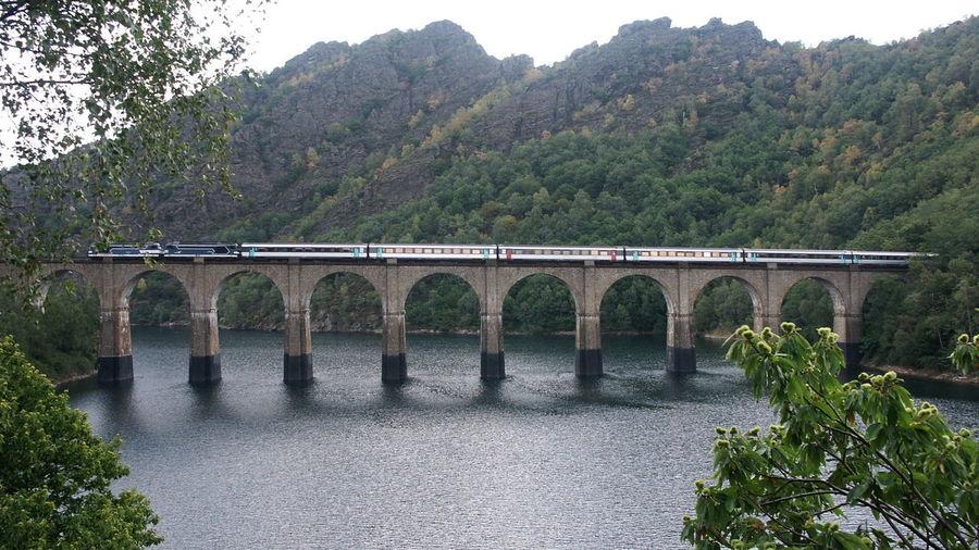 Cevennenbahn Corail Ligne Des Cevennes Sncf Stausee Viaduc  Viadukt Villefort