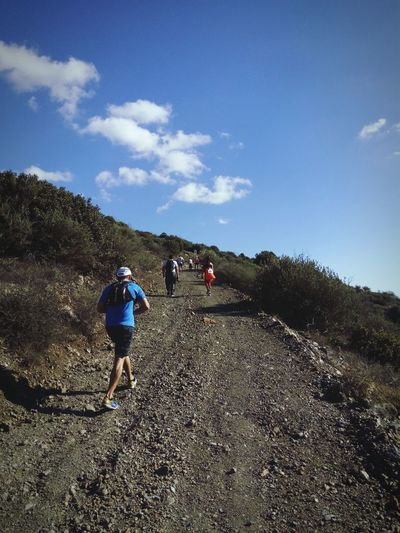Going The Distance of the Cyprus Ultra Trail Running Race • On The Road of the Trail ultra Marathon on Cyprus • Trailrunning up Mediterranean  Mountains • Adventure and Traveling Outdoors on the Nature • TrailRun  of EyeEm Nature Lover • Human Vs Nature in Sports Photography • Showcase: January • People Walking  • Humaninterest • Running up the Hills in Outdoor Photography