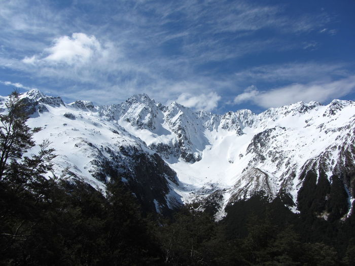 Nelson Lakes National Park Trekking Beauty In Nature Cold Temperature Day Landscape Mountain Mountain Range Nature New Zealand No People Outdoors Scenics Sky Snow Snowcapped Mountain Tranquility Winter