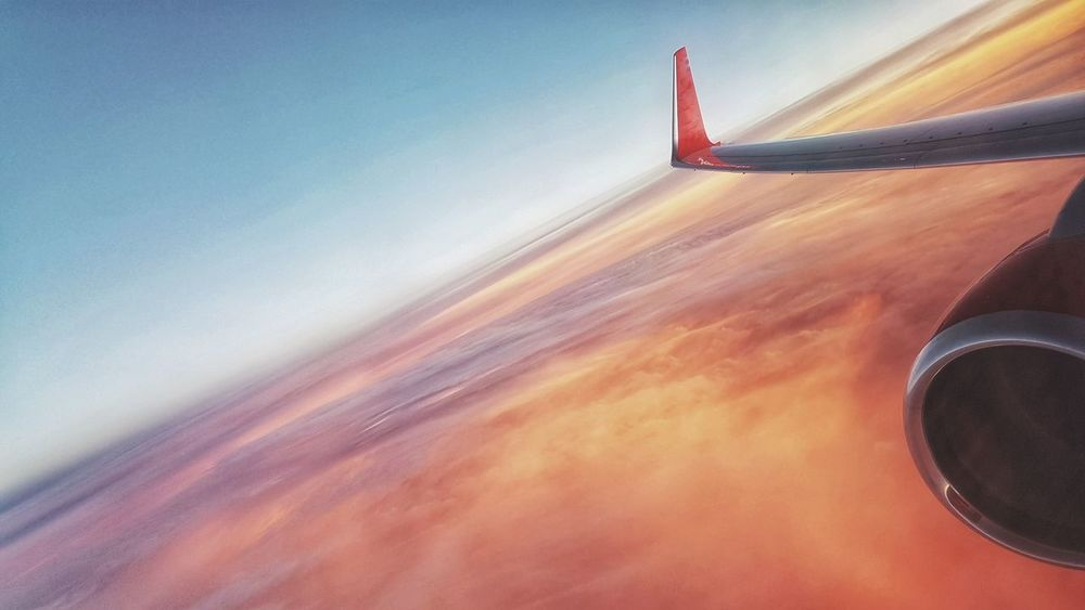 Bye bye sun. Airplane Transportation Flying Air Vehicle Journey Travel Aerial View Aircraft Wing No People Sky Jet2 Lifestyles Vacations Flightview Flight Day Multi Colored Amazing View Amazing Sky Popularpage Popular Photos