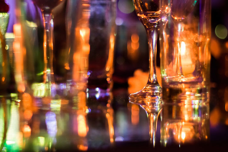 Celebration Drinks Glasses Lights Pretty Lights Alcohol Bar - Drink Establishment Celebration Event Drink Drinking Glass Food And Drink Glass Glass - Material Illuminated Indoors  Night No People One More Drink Party Refreshment