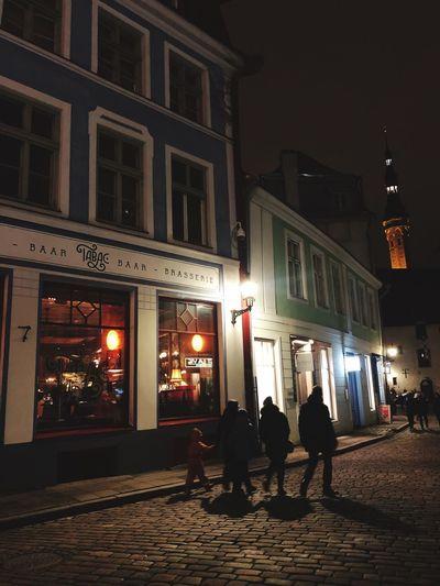 Tallinn Estonia Built Structure Illuminated Night Architecture