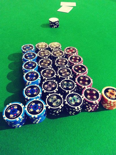 Accumulated Poker Chips