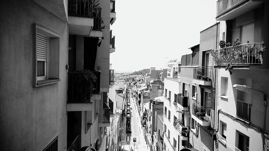 Black & White Street Point Of View Prospective City View  City Architecture